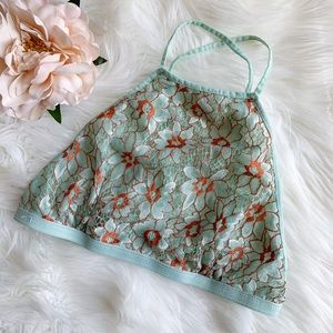 Honey Belle Floral Embroidered Lace Bralette Small